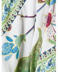 Tory Burch - Green Printed Kaftan Dress - Lyst