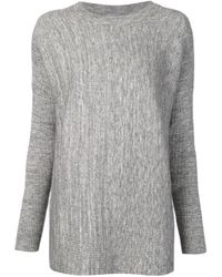 Just Female - Gray Italy Knit Blouse - Lyst