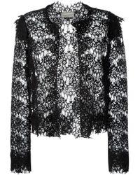 Lanvin | Black Lace Cropped Jacket | Lyst