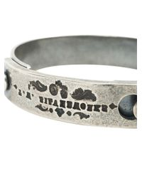 Tobias Wistisen - Metallic Logo Engraved Bangle for Men - Lyst
