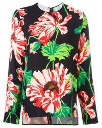 Stella McCartney | Green - Floral Print Top - Women - Spandex/elastane/viscose - 44 | Lyst