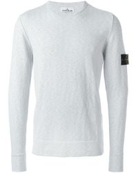 Stone Island | Gray Crew Neck Sweatshirt for Men | Lyst