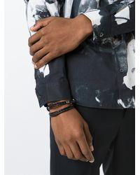 Paul Smith - Black Braided Leather Bracelet for Men - Lyst