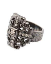 Loree Rodkin - Metallic Small Maltese Cross Diamond Ring - Lyst