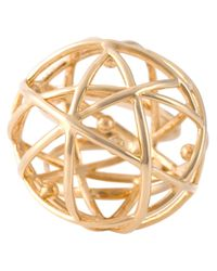 Eshvi - Metallic 'astro' Ring - Lyst