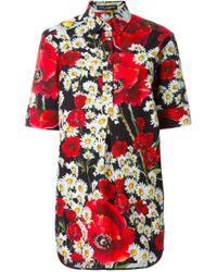 Dolce & Gabbana | Multicolor Daisy And Poppy Print Shirt | Lyst