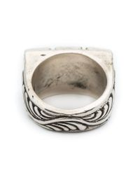 Henson - Gray Triple Floral Ring - Lyst