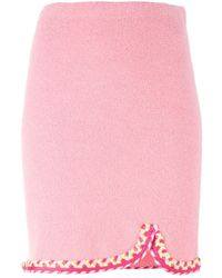 Boutique Moschino | Blue Braided Trim Skirt | Lyst