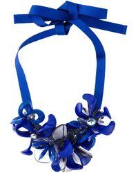 P.A.R.O.S.H. - Black Flower Gemstone Necklace - Lyst