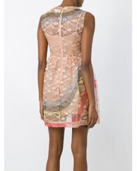 RED Valentino - Multicolor Sleeveless Floral Crepe Lace Dress - Lyst