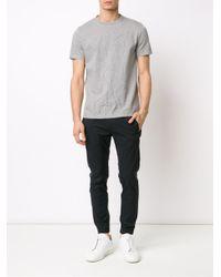 Maison Margiela - Gray Crease Effect T-shirt for Men - Lyst