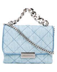 7ef395472bdf Lyst - Stella Mccartney Mini  beckett  Denim Crossbody Bag in Blue