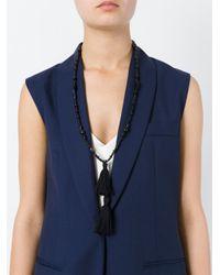Isabel Marant | Black Tassel Detail Necklace | Lyst