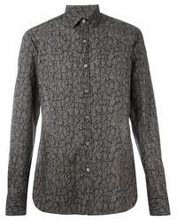 Lanvin - Black Printed Shirt for Men - Lyst
