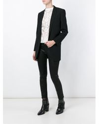 Saint Laurent - Black Star Jacquard Wool and Silk-Blend Blazer - Lyst