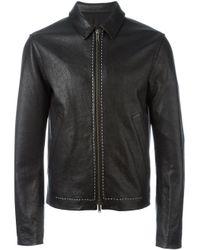 Haider Ackermann | Black - 'kasar' Jacket - Men - Cotton/leather - S for Men | Lyst