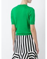 Stella Jean - Green Shortsleeved Sweater - Lyst