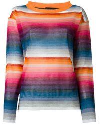 DIESEL | Blue Striped Sweater | Lyst