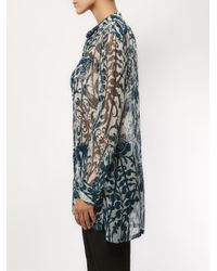 Dries Van Noten - Blue 'Caly' Shirt - Lyst
