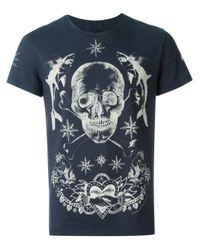 Alexander McQueen | Black Skull Tattoo T-shirt for Men | Lyst