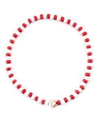 Luis Morais | Red Dice Motif Beaded Bracelet | Lyst