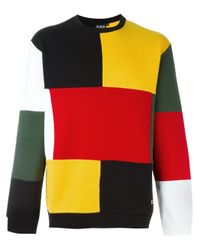 Ejxiii - Red Patchwork Sweatshirt for Men - Lyst