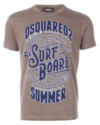 DSquared² | Brown Logo T-shirt for Men | Lyst