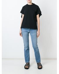 Vetements - Black Open Back T-shirt - Lyst