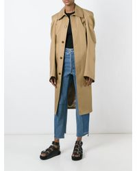 Vetements - Blue Belted Oversize Trenchcoat - Lyst