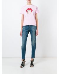 DSquared² | Multicolor Lip Print T-shirt | Lyst