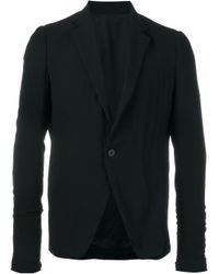 Rick Owens | Black Single Button Blazer for Men | Lyst