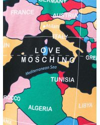 Love Moschino - Black Map Print T-shirt for Men - Lyst