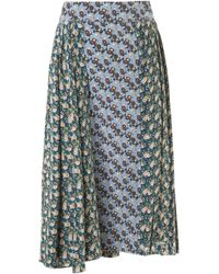 Marni | Green Sequin-embellished Woven Wool-blend Skirt | Lyst