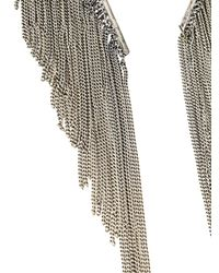 Emanuele Bicocchi - Metallic Chain Fringe Necklace - Lyst