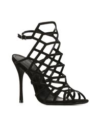 Schutz - Black Juliana Leather Sandals - Lyst