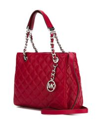 MICHAEL Michael Kors - Metallic 'susannah' Quilted Shoulder Bag - Lyst