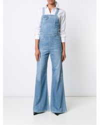 Citizens of Humanity - Blue Flared Dungarees - Lyst