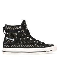 DIESEL | Black 'exposure' Hi-top Sneakers | Lyst