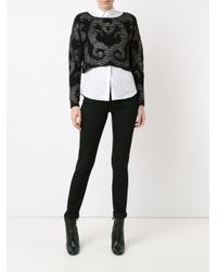 Cecilia Prado - Black Tricot Ribbed Crop Sweater - Lyst
