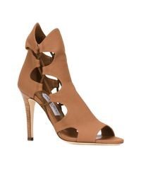 Jimmy Choo | Brown 'lucky 100' Sandals | Lyst