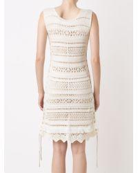 Cecilia Prado - White Open Knit Tricot Dress - Lyst