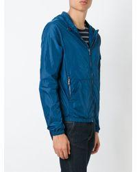 Michael Kors - Blue Zipped Hooded Jacket for Men - Lyst