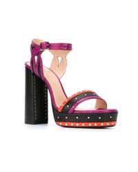 Lanvin - Multicolor Studded Platform Sandals - Lyst