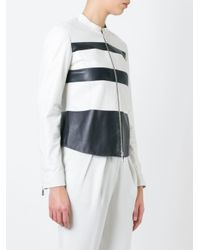 DESA NINETEENSEVENTYTWO - White Block Colour Jacket - Lyst