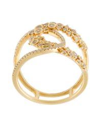 Kristin Hanson | Metallic Diamond Loop Ring | Lyst