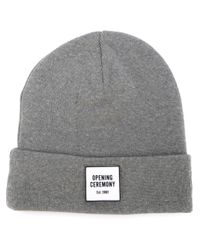 Opening Ceremony | Gray Logo Patch Beanie for Men | Lyst