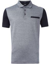 BOSS - Black Colour Block Polo Shirt for Men - Lyst