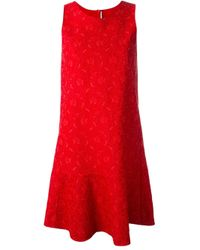 Ermanno Scervino | Red Lace Jacquard Dress | Lyst