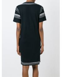 A.P.C. - White Contrasting Embroidery Dress - Lyst