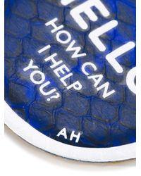 Anya Hindmarch - Blue 'hello' Sticker - Lyst